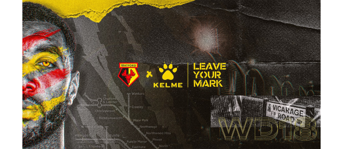 KELME ANNOUNCE RECORD FOUR YEAR TECHNICAL PARTNERSHIP WITH WATFORD FC